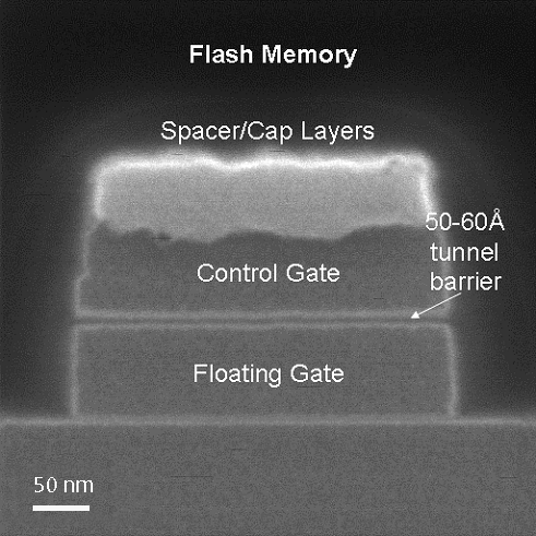 Ultra-high resolution cross section imaging of flash memory cell