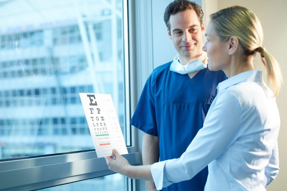 Presbyopia can be easily diagnosed in an eye exam