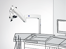 OPMI pico microscope compact ENT wallmount